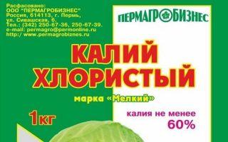 Хлористый калий — применение на огороде, свойства удобрения
